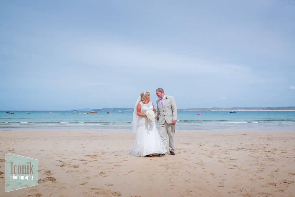 Wedding Photography in Cornwall - Porthminster Beach