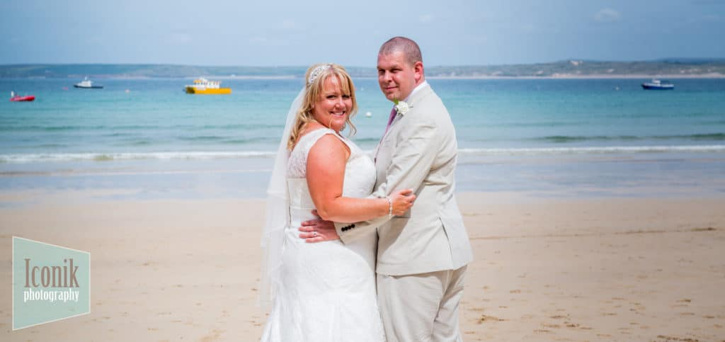 Wedding Photography in Cornwall - St Ives Porthminster Beach
