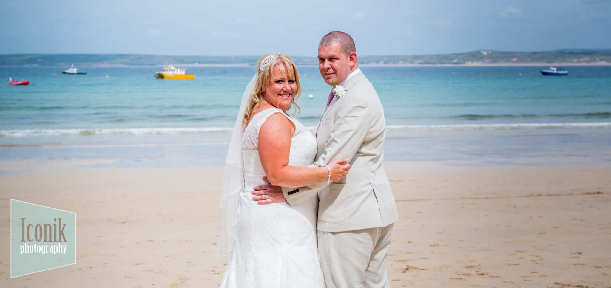 Claire and Carl's Wedding at the Guildhall in St Ives in Cornwall