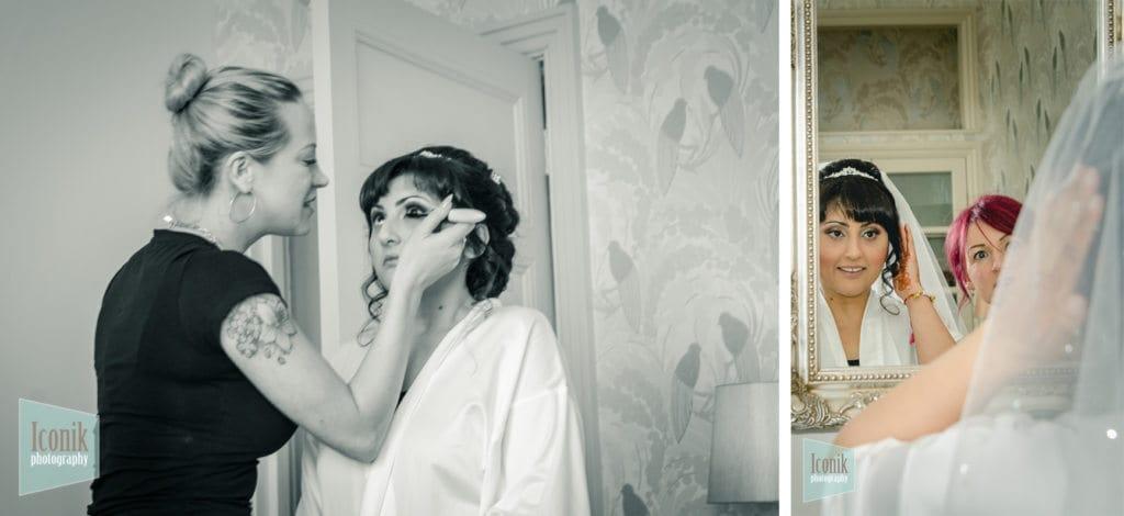 Bridal preparations at the carbis bay hotel - Cornwall Wedding Photographer