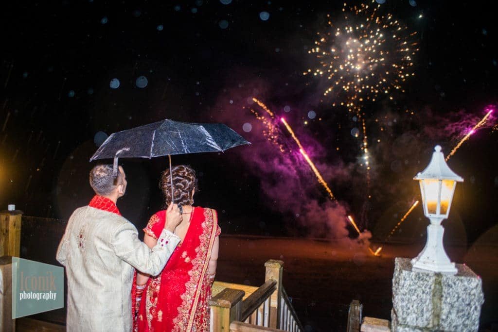 wedding firework photography at the carbis bay hotel Cornwall