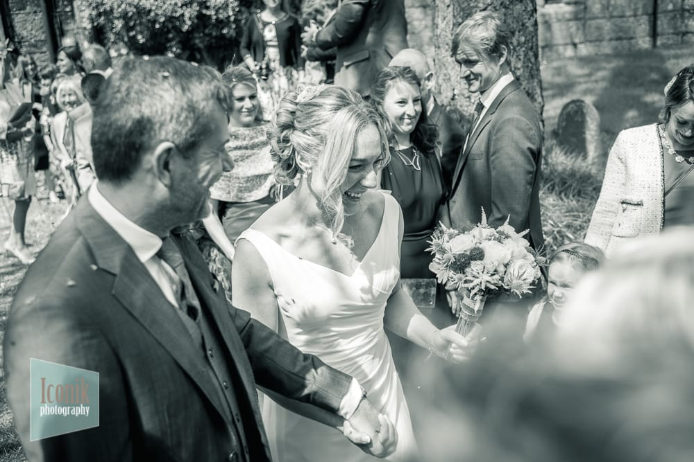 fun modern wedding photography in Devon and Cornwall